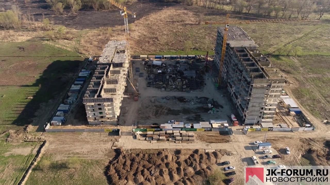 ЖК «Трилогия» :: 3 апреля 2017 :: Краснодар, ул.Невкипелова, 24/2 :: этапы строительства