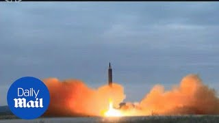 North Korea State TV footage shows missile launch over Japan - Daily Mail