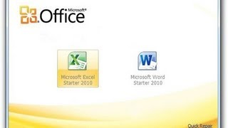 FREE - Get Microsoft Office starter Edition 2010 for Windows Vista, 7 & 8