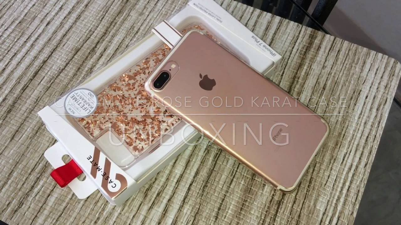 new style 31b99 f500e Case-Mate Rose Gold Karat Case for the iPhone 7 Plus Unboxing & Hands On