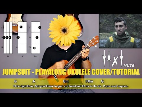 twenty one pilots - Jumpsuit Ukulele Cover Tutorial (lyrics|chords|MusicSheet)