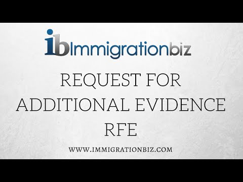 Request for Additional Evidence by USCIS - YouTube