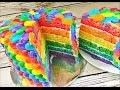 Rainbow Cake - How to make eye catching Rainbow cake