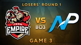 Team Empire vs Team NP Game 3 - Dota Summit 7: Losers