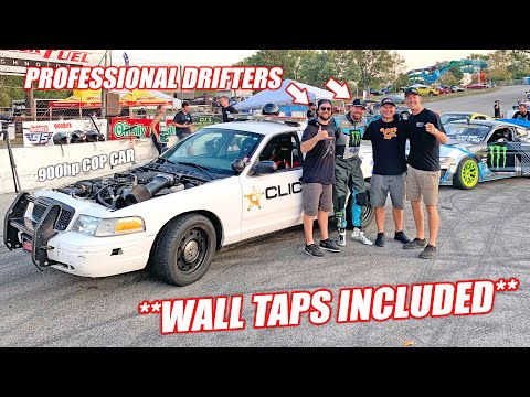 Craziest Ride of MY LIFE! Vaughn Gittin Jr. Drives/Drifts/Shreds Our 900hp GT500 Swapped COP CAR!