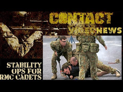 Stability Operations training for RMC Staff Cadets