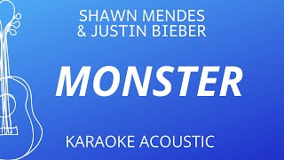 Download Monster - Shawn Mendes, Justin Bieber (Karaoke Acoustic Guitar)