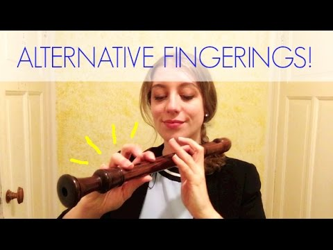 How to play ALTERNATIVE FINGERINGS | Team Recorder