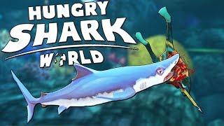 МЕГА ДЛИННАЯ И БЫСТРАЯ АКУЛА , СИНЯЯ АКУЛА | Hungry Shark World