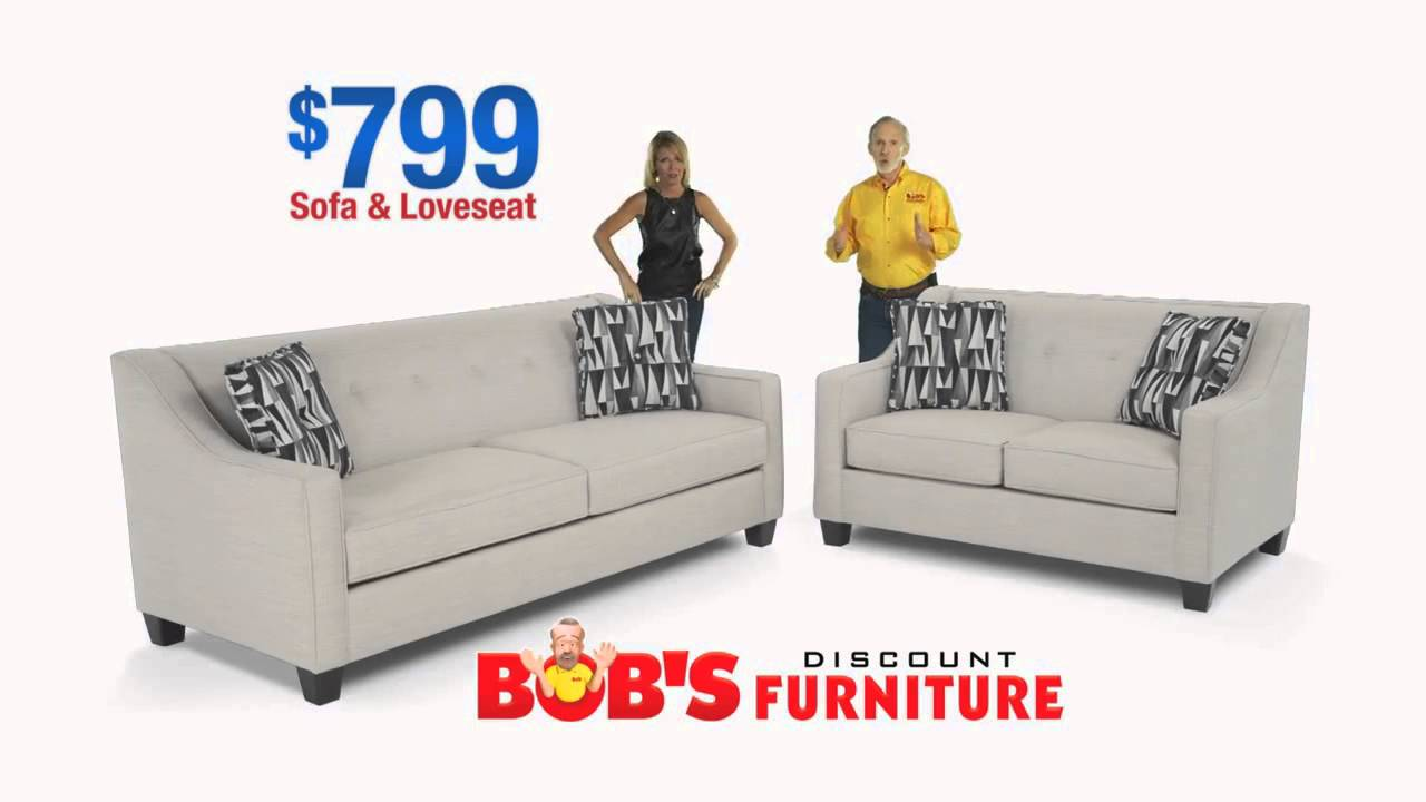 Bobu0027s Discount Furniture $799 Living Room Sets!   YouTube
