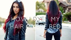 How I Dyed My Hair Ombre Red!! (Without bleach!)