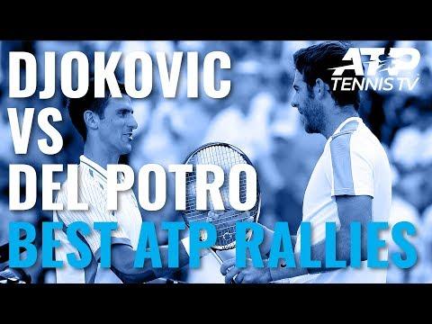 Novak Djokovic vs Juan Martin Del Potro: Best Ever ATP Shots And Rallies!