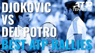 Novak Djokovic vs Juan Martin Del Potro: Best Ever ATP Shots And Rallies!