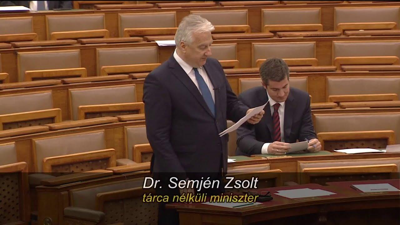Semjén Zsolt napirend előtti felszólalása és Orbán Balázs ...