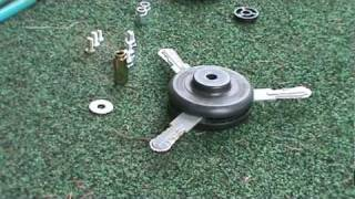 how to change heads on  a weed eater brand 25cc trimmer
