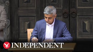 Sadiq Khan starts second term as Mayor of London with signing in ceremony