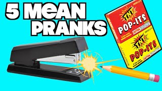 5 Mean Pranks You Can Do In Class For April Fools' Day-HOW TO PRANK (Evil Booby Traps) | Nextraker