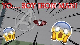I... I AM IRON MAN!, IN THIS EPIC SIMULATOR! Roblox: Iron Man Simulator English