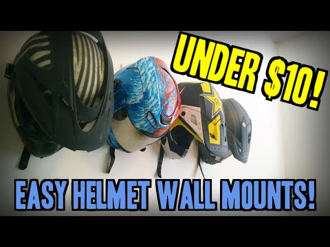 The Best Diy Motorcycle Helmet Wall Mounts Youtube