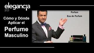 Cómo y Dónde Aplicar el Perfume Masculino - Bere Casillas (Elegancia 2.0)