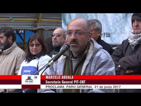 PIT-CNT Marcelo Abdala Proclama Paro 21-6-2016
