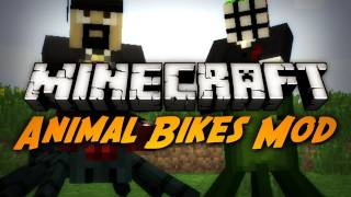 Minecraft Mod Review: ANIMAL BIKES MOD!