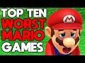 Top Ten Worst Mario Games [with Nintendo