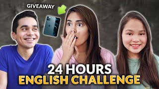 24 HOURS ENGLISH CHALLENGE! | IVANA ALAWI