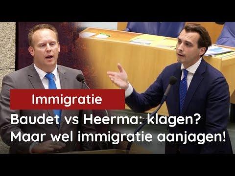 Baudet vs Heerma (CDA): klagen over tekorten woningmarkt, maar wel immigratie steunen!