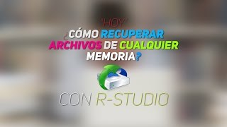 Recuperar Archivos De Un USB Con R-Studio 2017