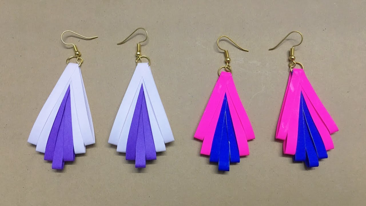 How To Make Paper Earrings Jewellery Making Quilling Tutorial Easy Diy