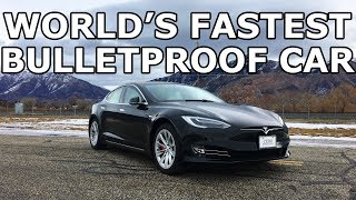 World's Fastest Bulletproof Car - Tesla P100D with a 60,000 PSI Waterjet - Giveaway