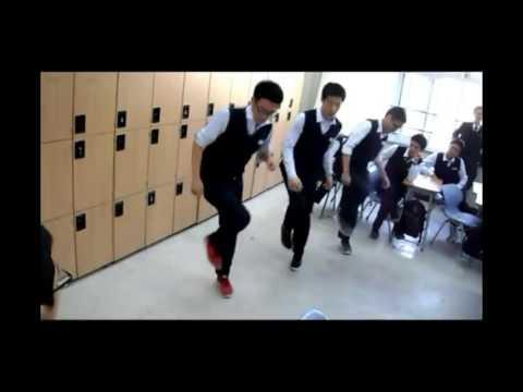 Korean Student Shuffling  สเต็ปเท้าเด็กเกาหลี ยียวนชวนเต้นตาม