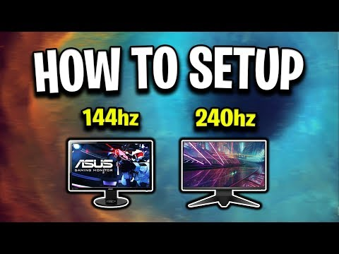 How To Setup Your NEW 144hz Or 240hz Monitor!