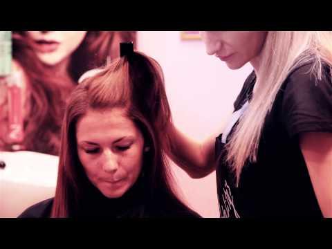 Окрашивание волос в красный. Техника для салона красоты. ПАРИКМАХЕР ТВ БЕЛАРУСЬ