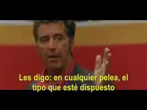 Discurso Motivacional Al Pacino Un Domingo Cualquiera