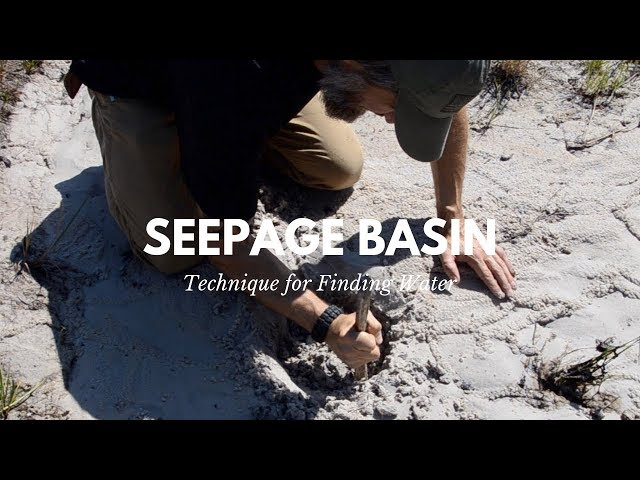 Water Seepage Basin (Sip Well or Coyote Well) Technique for Getting Water