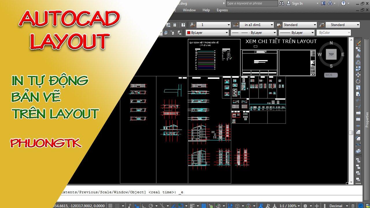 ✔ Autocad Layout – In Tự Động Hàng Trăm Bản Vẽ Trên Layout – Autocad PhuongTk | NESA iCAD