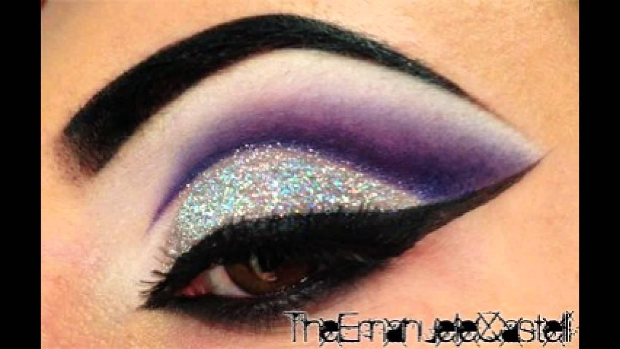 Purple Cut Crease & Glitter - Make Up Tutorial ft. BitchSlap ...