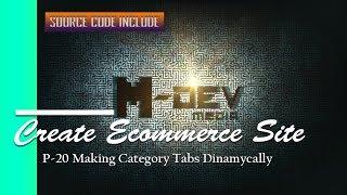 P-20-Making-Kategorie Registerkarten, Dinamycally - Erstellen E-Commerce-Website-Tutorial
