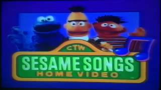 Sesame Songs Home Video Sing Yourself Silly Part 1