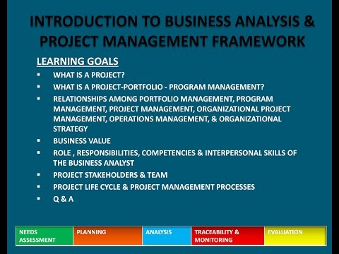 PMI PBA PMP Chapter1- Introduction to Business Analysis and Framework