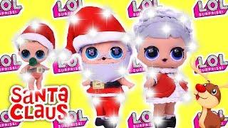 LOL Surprise Dolls CHRISTMAS EDITION Santa CLAUS & Baby Santa Series 3 Custom Doll DIY Toys Tutorial