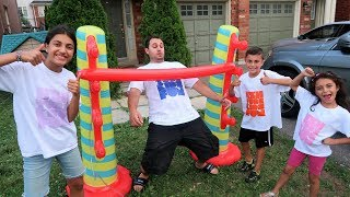 Heidi Zidane and Hadil Limbo Challenge with our DAD! family fun vlog video