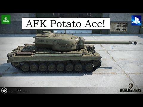 AFK Potato Scrub - T30 - World of Tanks Console ( Xbox / PS4 )