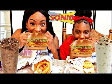 MUKBANG: SONICS NEW ULTIMATE CHICKEN CLUB & CUSTARD CONCRETES! YUMMYBITESTV