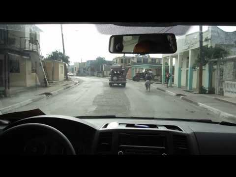 Driving through La Maya, Cuba.  Almost to Guantanamo.  Day 6.