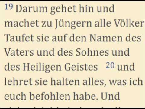 Matthäus 28 16 20