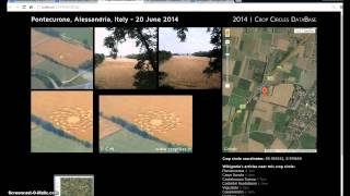 Pontecurone Crop Circle June 20 2014. Abyss is Opened. Illuminati Freemason Symbolism.