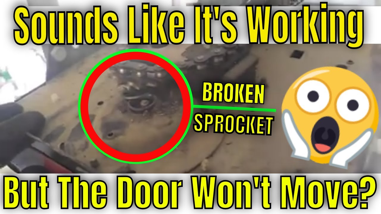 Broken Garage Opener Gear And Sprocket Youtube